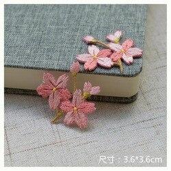 2 pc/lote moda ferro em bonito flores remendos para roupas bordados de engomar apliques parche diy artesanal roupas acessórios