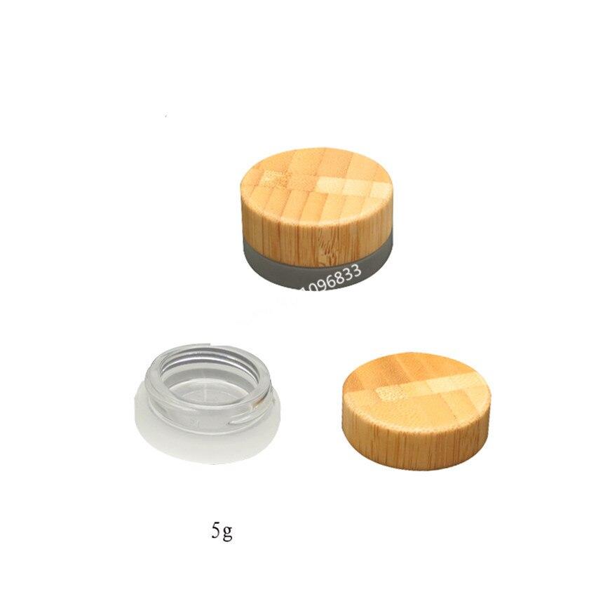 10 шт. Специальный матовый стеклянный флакон для косметики, 5 мл, Бамбуковая стеклянная бутылка, маленькая мини многоразовая стеклянная буты...