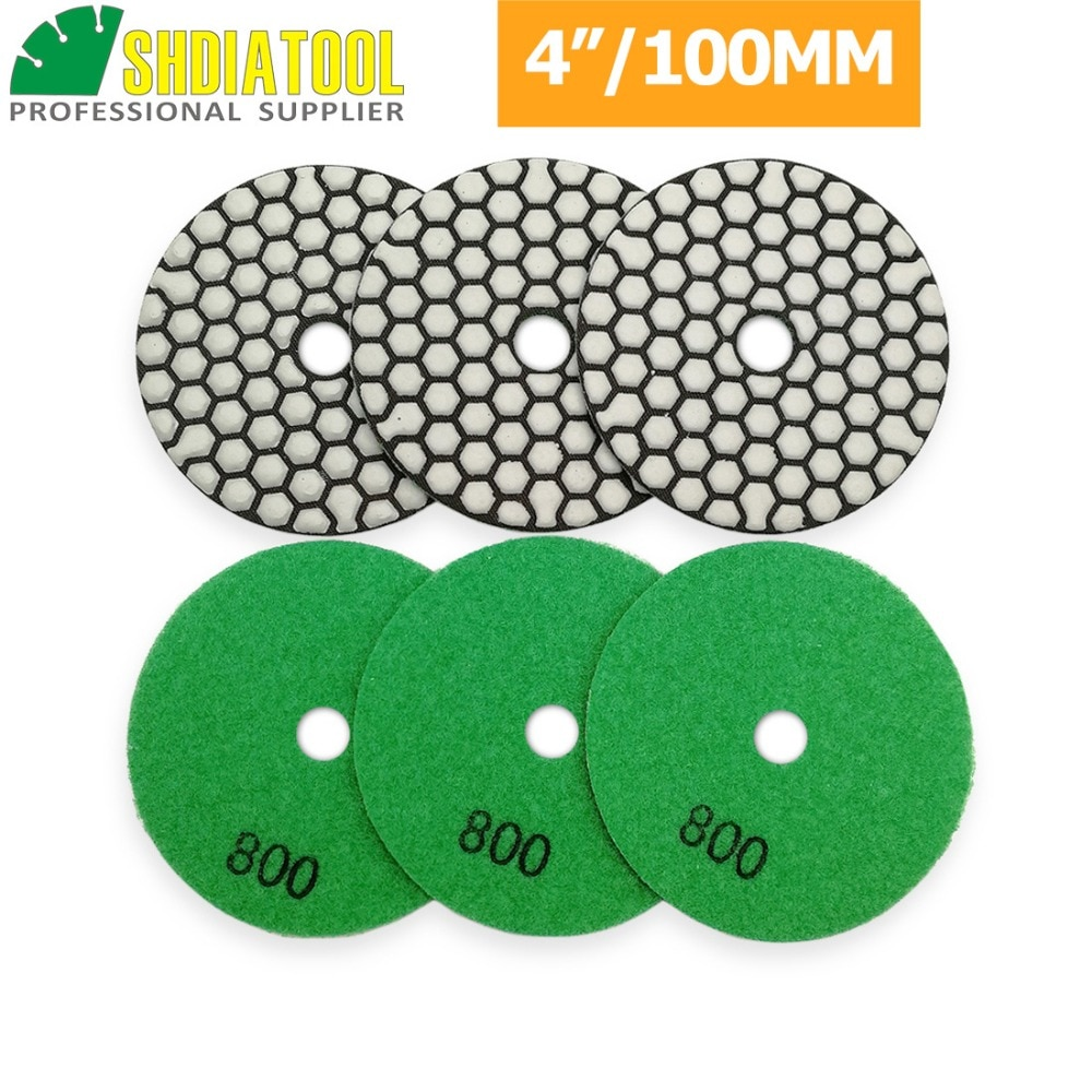 SHDIATOO 6pcs Diamond Flexible Dry Polishing Pad  4