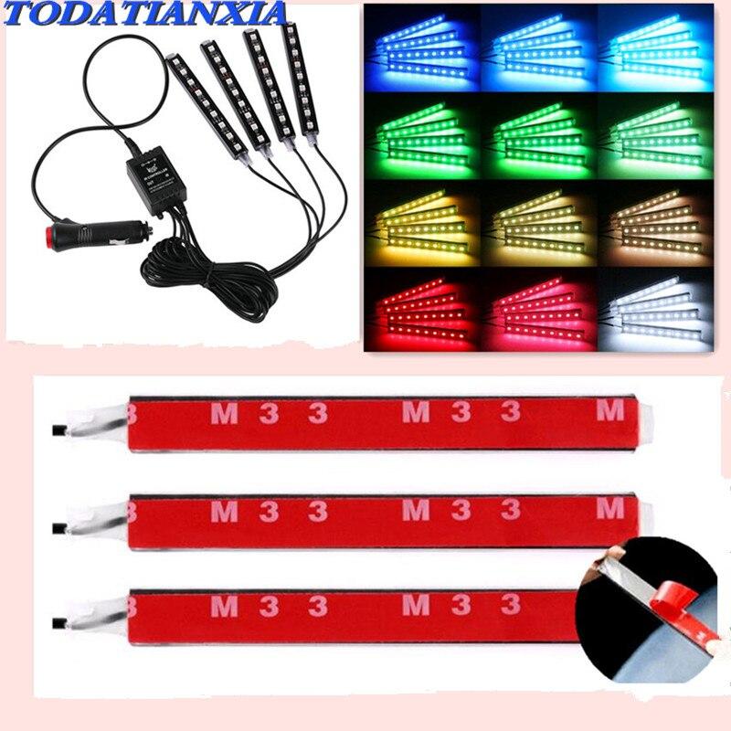 Coche LED decorativo lámparas de coche de la luz Interior para BYD F3 F0 S6 S7 E5 E6 M6 G3 F3 G5 T3 13 lifan x60 X50 620, 320 de 520 125CC solano