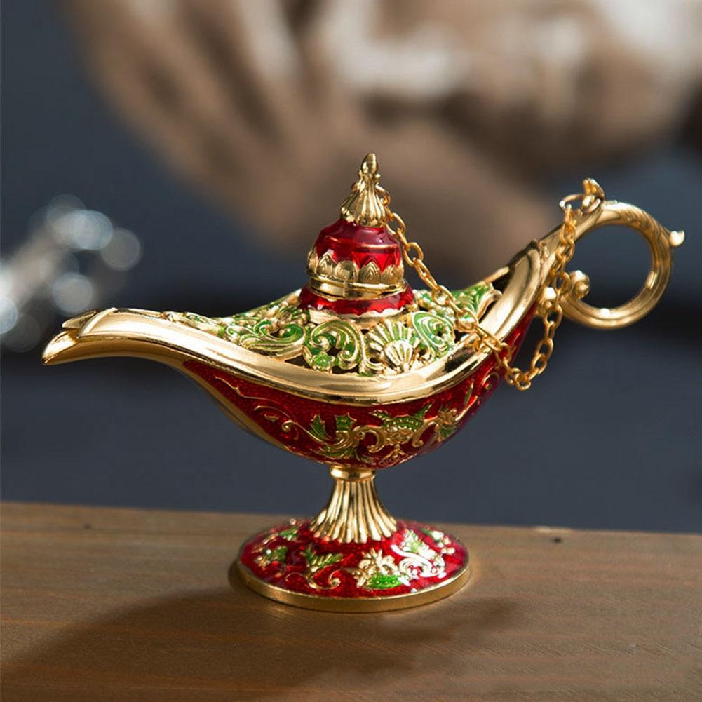 Чайный горшок, традиционный подарок, искусство, винтажный ДЕКОР МАСЛОМ, украшения для дома, украшения из цинкового сплава, резная лампа Aladdin,...