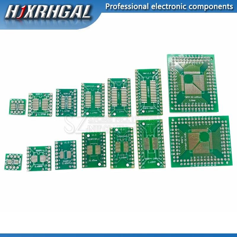 10 stücke PCB Board SOP8 SOP14 SOP16 SOP20 SOP24 SOP28 QFP FQFP TQFP Drehen Zu DIP Adapter Konverter Platte TSSOP 8 14 16 20 24 28