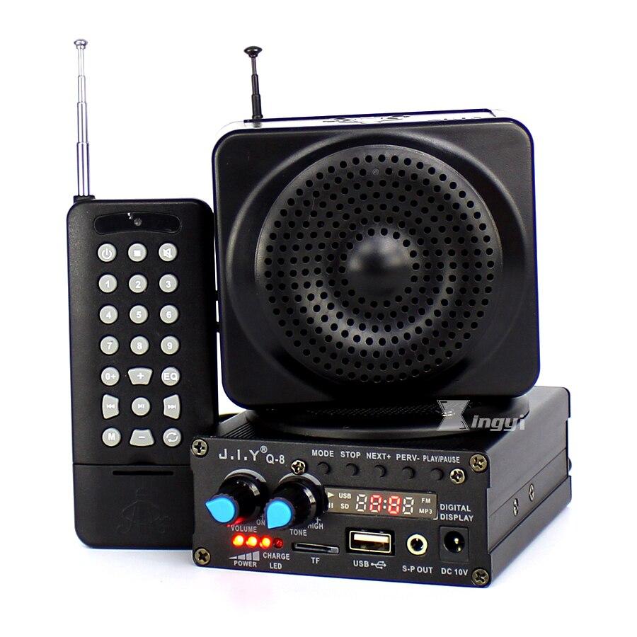 Q-8 48 Watt 500 mt Fernbedienung Jagd Mp3 Vogel Anrufer Falle vögel Sound Player Jagd Entenkoje Ausrüstung Usb-mini-lautsprecher verstärker