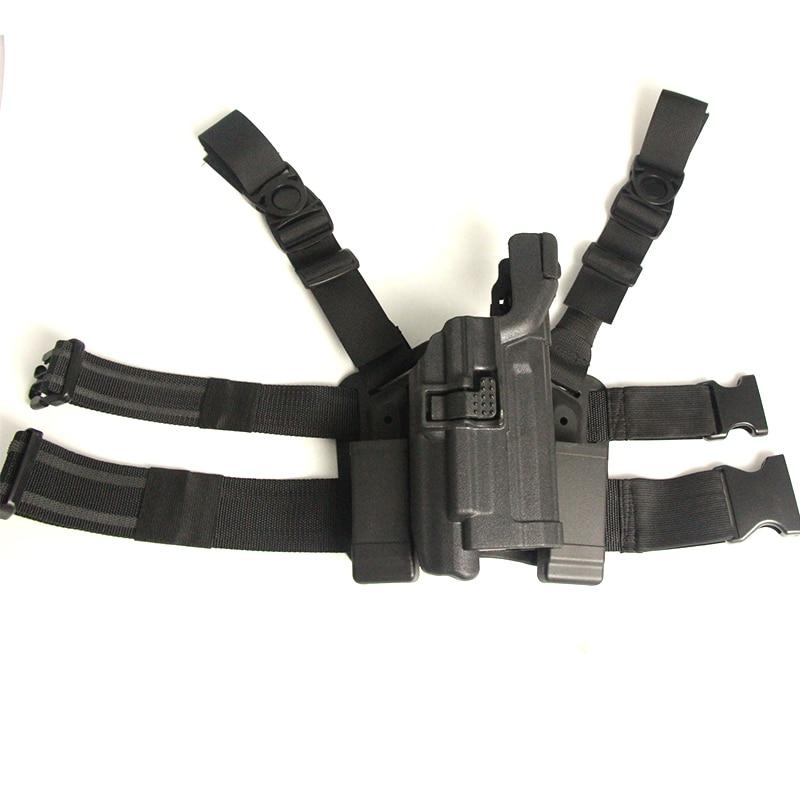 Étui tactique de jambe de baisse de niveau 3 Ipsc Cuisse portant des étuis de pistolet à main Airsoft accessoires de chasse pour HK USP