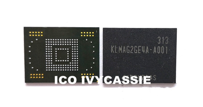 KLMAG2GE4A-A001 chip de memoria flash IC NAND BGA eMMC 16GB utilizado 100% probado