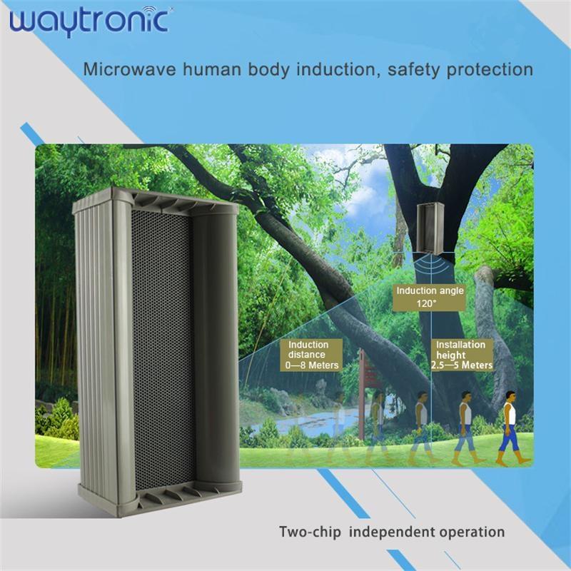 Garden Park Waterproof Outdoor solar Pir Motion Sensor Detector Outdoor Safety Voice Announcement Public Broadcasting Device