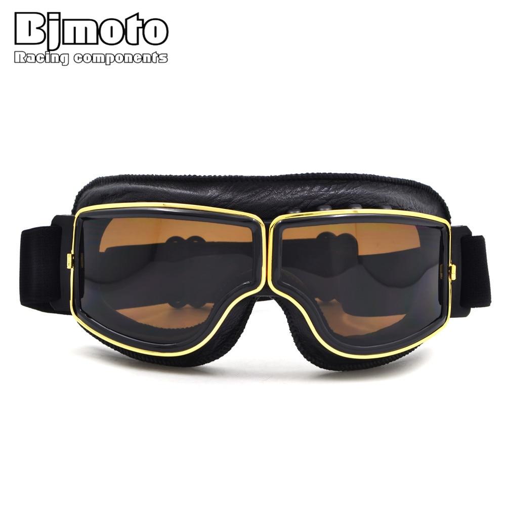 Retro óculos de proteção da motocicleta para harley estilo oculos antiparras gafas motocross óculos para motos capacete atacado