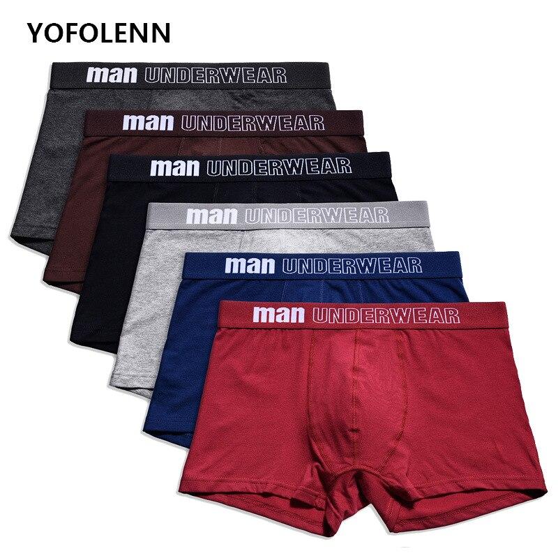 4 unids/lote ropa interior de algodón de los hombres Boxer Calzoncillos para hombres boxeadores Calzoncillos Hombre bragas pantalones cortos Boxershorts Hombre Sexy