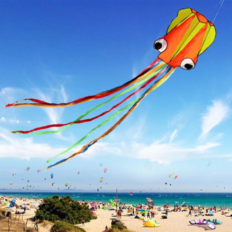 Cometa 3D 4M pulpo de una sola línea de truco/Software de potencia deporte volando cometa suave al aire libre fácil de volar niños Juguetes Divertidos regalos