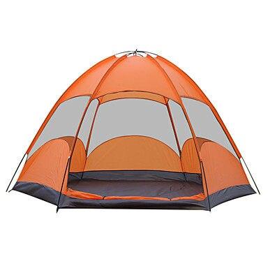 3-4 personas equipo de pantalla al aire libre campamento de senderismo tienda ultraligera turismo impermeable TENDAING suministros