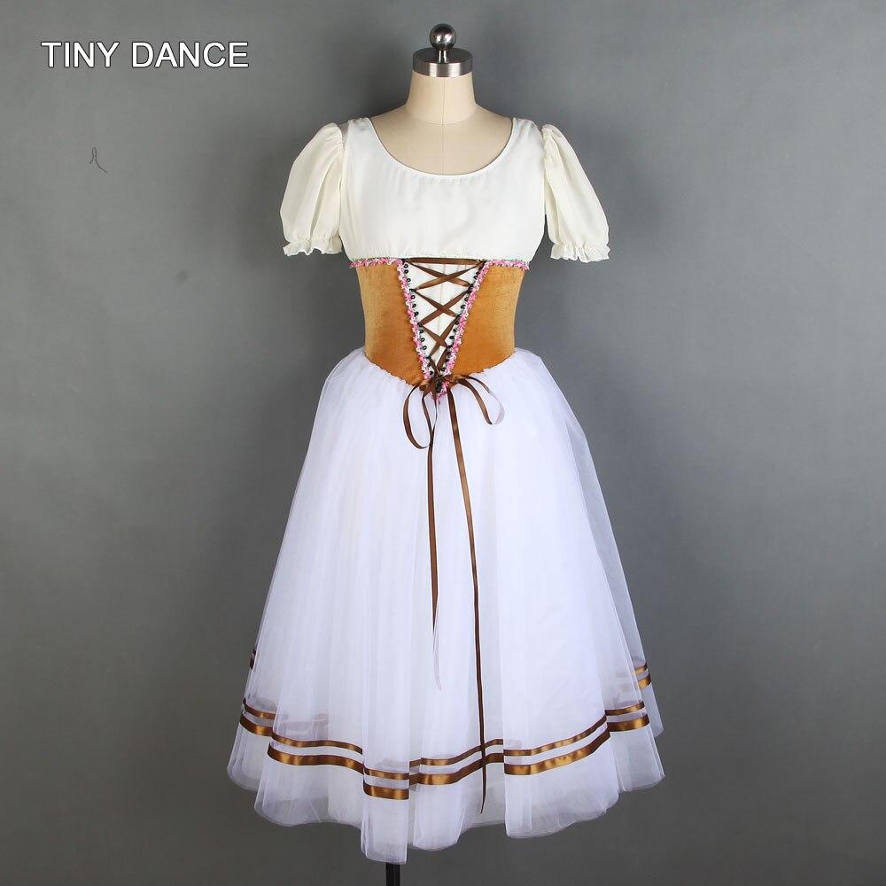 Más vendidos, tutú de danza para adultos y niñas, de manga corta de LICRA corpiño, vestido de tutú de Ballet blanco, ropa de actuación de Ballet 20020