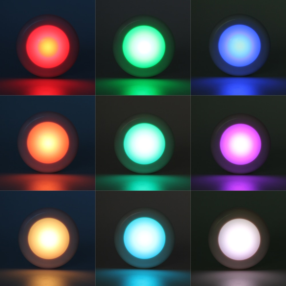RGB LED Night Light Wireless Remote Controller RGBW 12 Color Dimmable Flash Under Cabinet Night Lamp For Closet Stair Hallway  - buy with discount