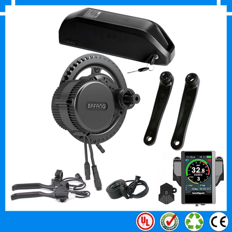 EU US RU No taxes New 36V 500W BBS02B Bafang mid drive electric motor kit with 36V 15Ah 17.4AH Li-ion ebike battery + charger