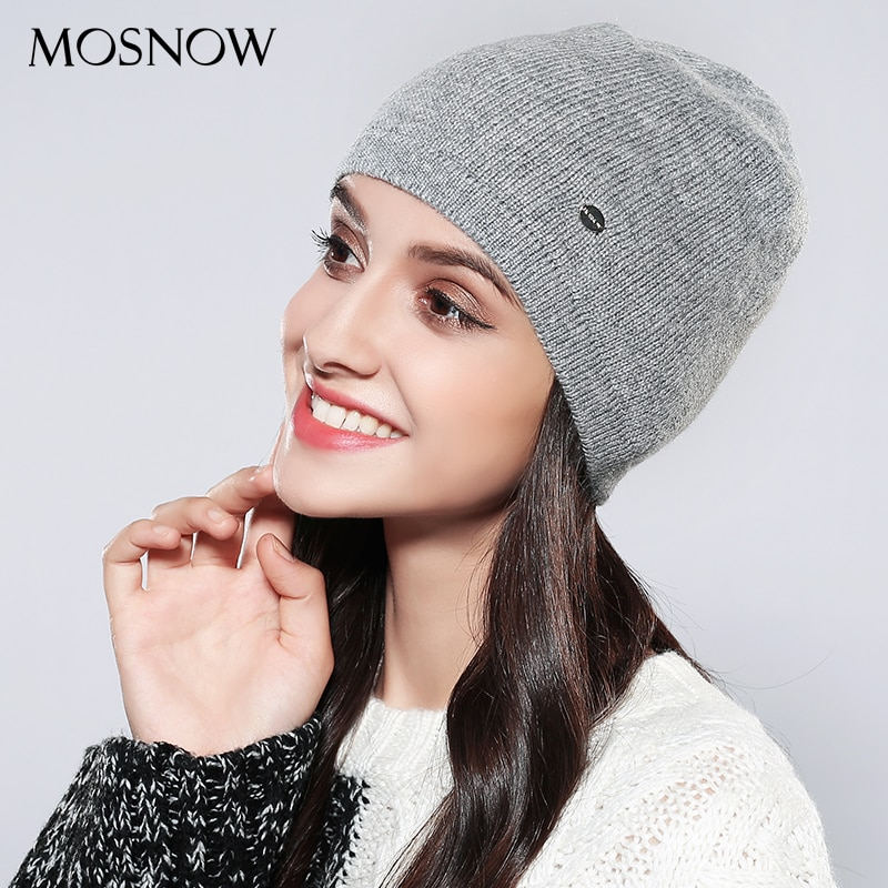 Gorros tejidos para mujer, gorros de alta calidad a la moda, gorro negro tejido para Otoño e Invierno 2019, gorro para mujer # MZ746