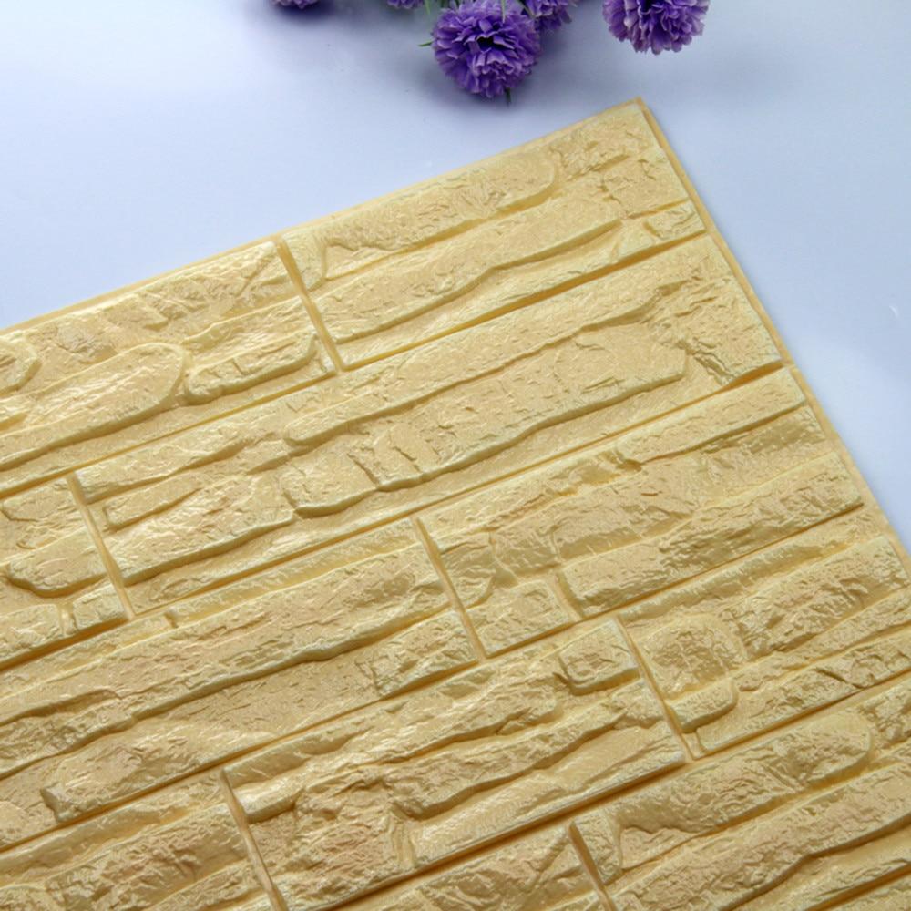 30*60cm bricolage 3d Pe mousse papier peint décoration en relief auto-adhésif 3d brique panneaux muraux chambre décalcomanie pierre brique Stickers muraux