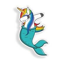 "Unicorn Mermaid Sticker Dabbing Car Window Bumper Laptop Dab Cup phone 4"" Decal"