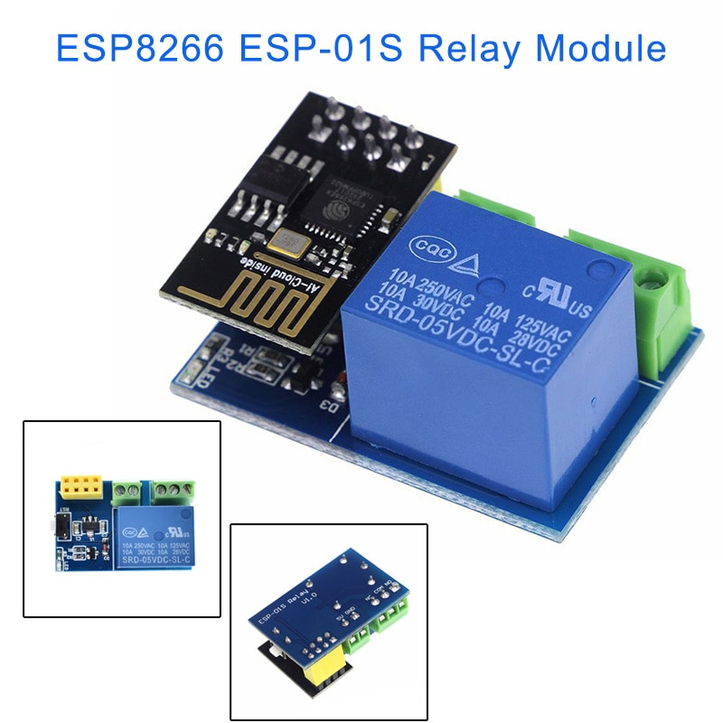 Módulo de relé ESP-01S ESP8266, enchufe inteligente Wifi para interruptor inteligente DIY MAL999