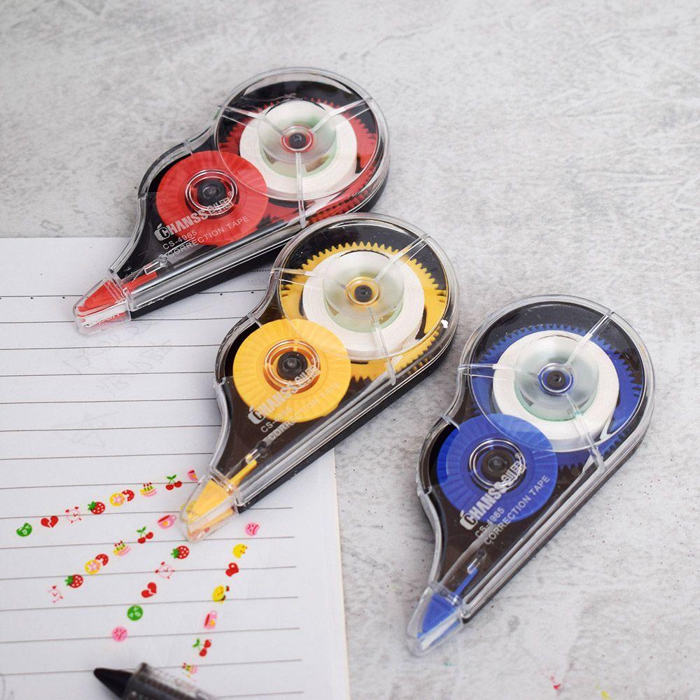 Gran oferta cinta correctora enrollable 8m adhesiva blanca material papelería material escolar para niños regalo