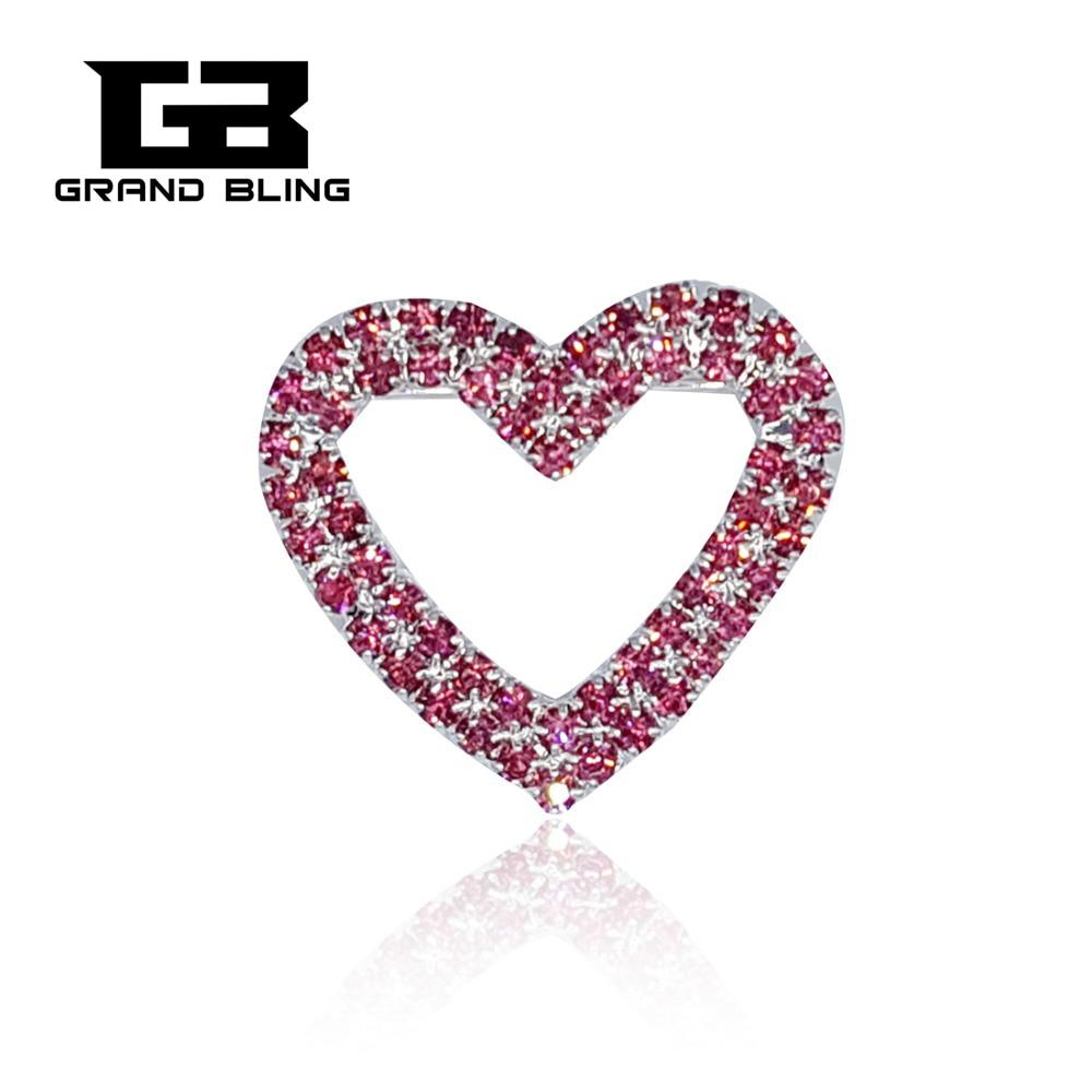 MARY KAY Theme-broche de corazón rosa, Pins, joyería de diamantes de imitación