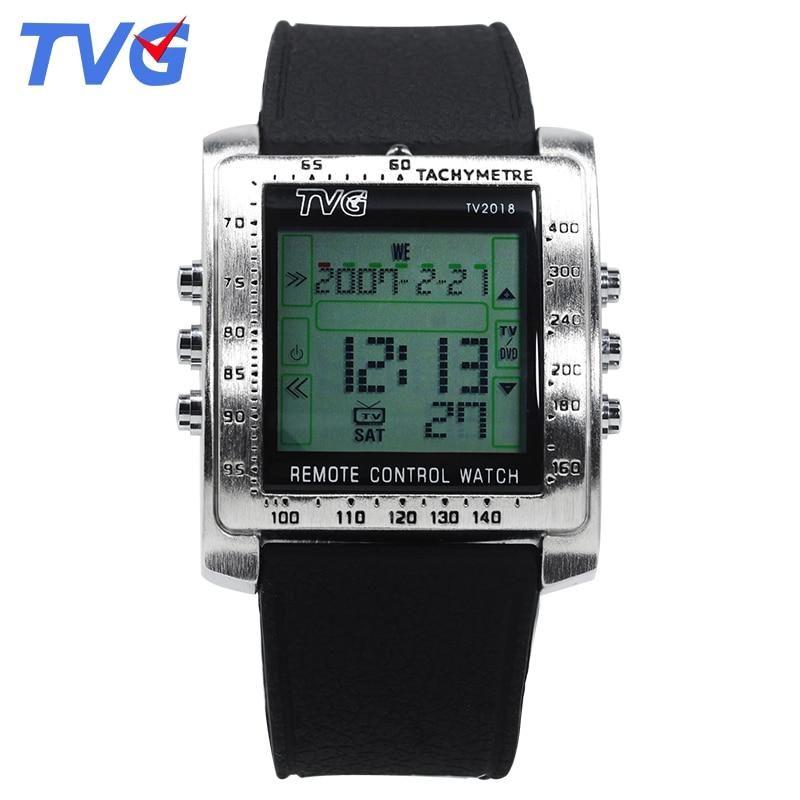 TVG Fashion Men Sports Watches Smart Remote Military Watch LED Digital Watch Men Alarm Waterproof Wrist Watch Relogio Masculino