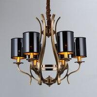 Modern Retro Loft iron Pendant Lamp E14 Iron Droplight Rusty Bronze Pendant lights Hanging Lamp Fixture