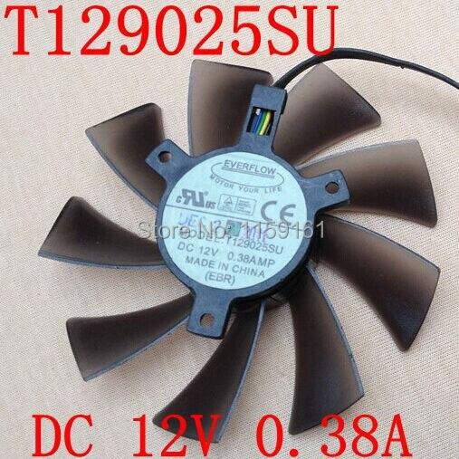 Envío Gratis EVERFLOW HD7970 HD7950 GTX680 ENGTX580 DCII T129025SU para el ventilador de la tarjeta gráfica ASUS