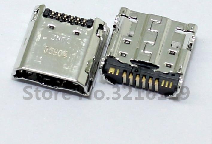 10 teile/los new Original-ladegerät Micro-usb-ladeanschluss Anschluss für Samsung Galaxy Tab 3 P5200 P3200 Micro USB Jack
