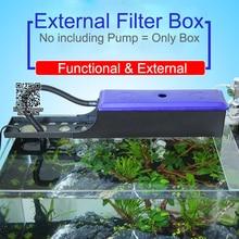 Boîte de filtre externe daquarium pour la pompe, boîte deau pour le système de circulation, récipient réglable de filtre de la longueur 24 ~ 60cm pour laquarium