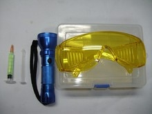 Test de fuite fluoroscopique doutil de réparation de climatiseur de voiture automatique, détecteur de fuite de lampe-torche à ca