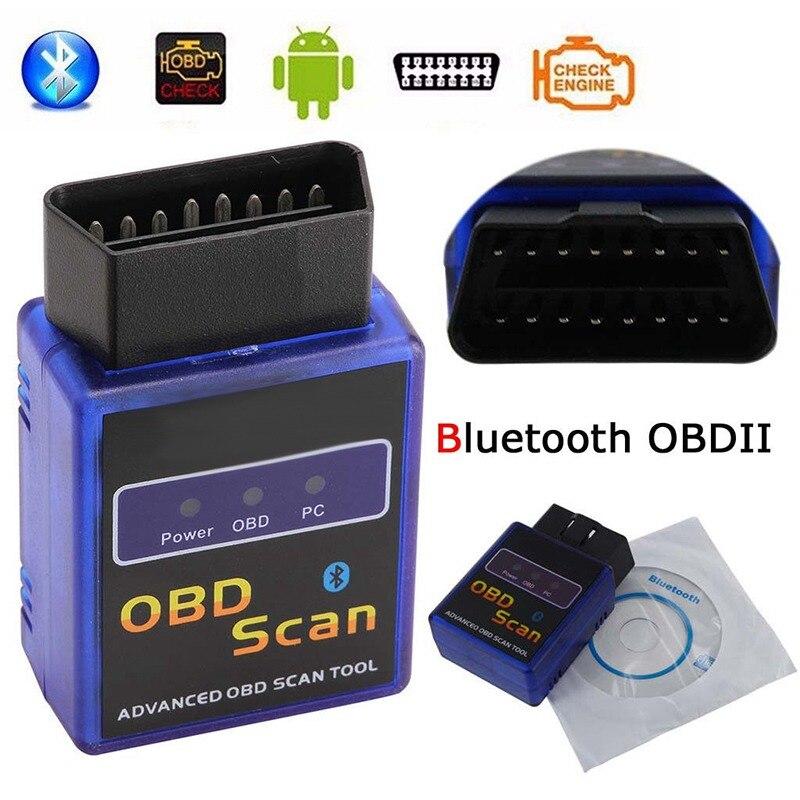 VicTsing obd2 adaptador Bluetooth interfaz de diagnóstico OBD2 escáner con CD controlador ELM327 V1.5 OBDII coche escáner adaptador ANDROID