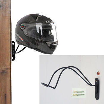 Demir Motosiklet Kask Tutucu kanca raf Depolama Duvara Monte Ekran Askı Moto