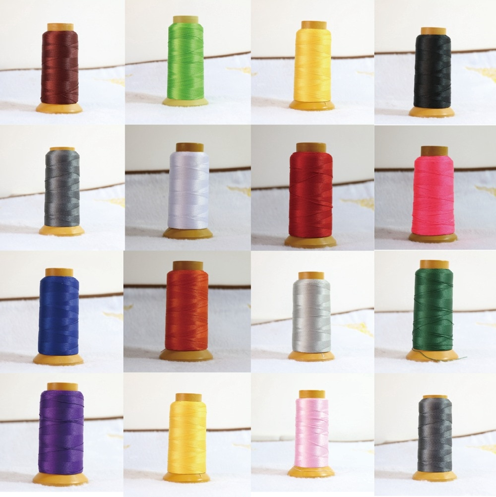 Tema europea 16 venta caliente de Nylon del cordón de seda hermosa línea de color perla 1.2mm collar apto B862