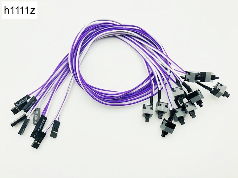 Cable de la placa base de reinicio 10 Uds., caja de ordenador de sobremesa, botón de encendido SW, Cable de alimentación, Cable interruptor de Reinicio para minería