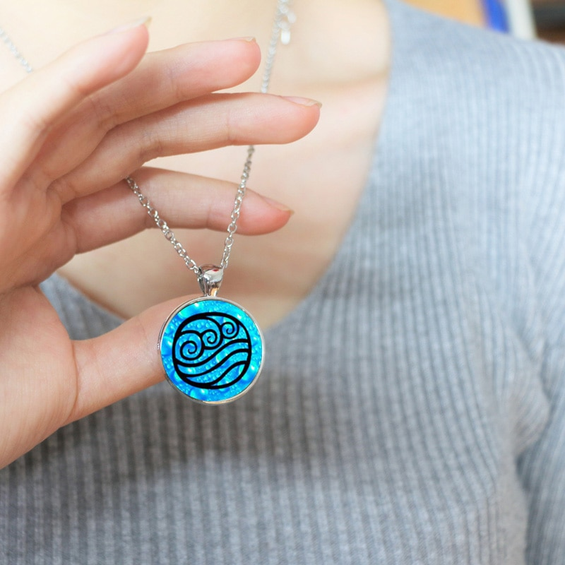 Ожерелье Аватара, стеклянный кабошон для кулона
