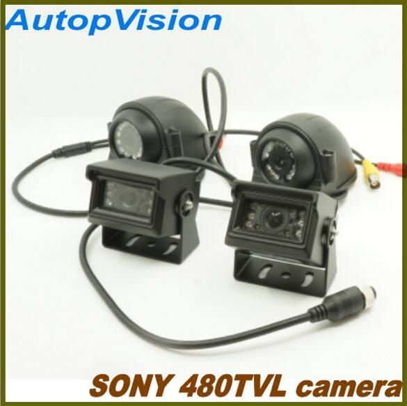 10 IR LED super visión nocturna SONY 480TVL cámara de coche para 2CH/4CH DVR