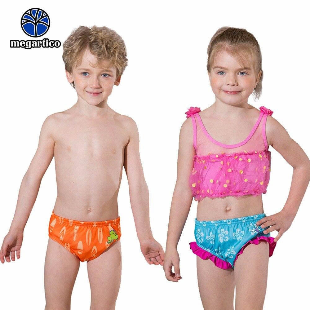 Megartico Reutilizável Swim Fraldas para o Bebê Da Criança sapo Dos Desenhos Animados Calças de natação Plissado Natação Troncos Meninos Meninas Treinamento Maiô