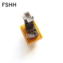 FSHH QFN8 to DIP8 Programmer adapter  WSON8 DFN8 MLF8 test socket Pitch=0.5mm Size=3x3mm