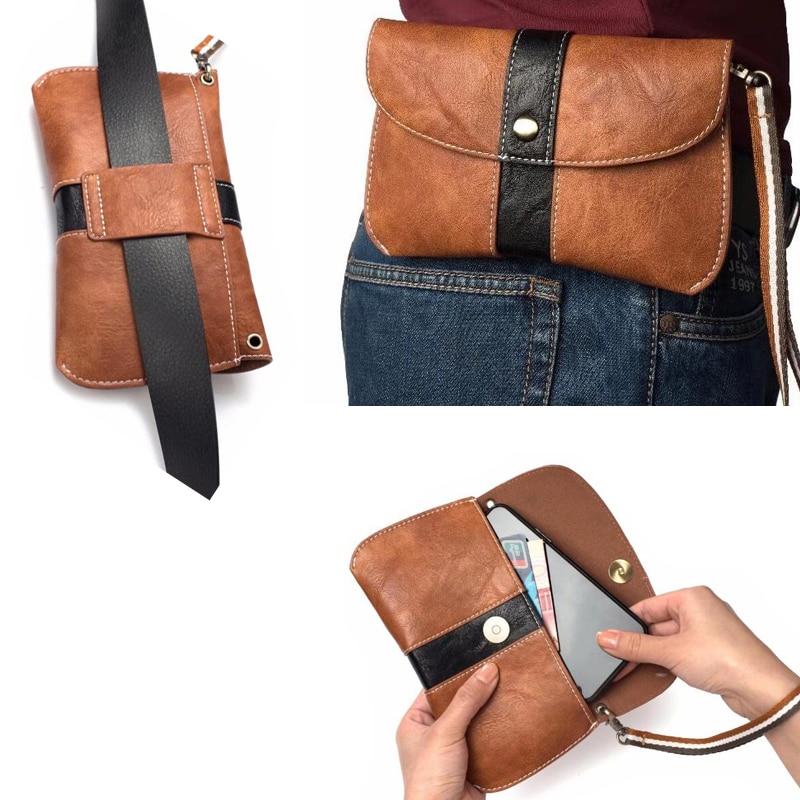 Correa de mano Clip de cinturón teléfono móvil Funda de cuero bolsas para LG Ray, G5, 2 LS775 Stylo, X pantalla, K7, G Vista 2, G4 Stylus, G4 Beat