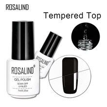 Rosalind 7 Ml Gehard Top Coat Gel Glas Heldere Anti Nail Gel Polish Nail Art Langer Blijvende Losweken Uv led Gel Lak