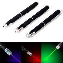 Rood Groen Blauw Paars Laser Pointer 1 Mw 5 Mw High Power Led Zaklamp Krachtige Pen Zaklamp Lazer Punt voor Onderwijs Spelen