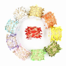 5M/10M Cords Hemp Rope Multicolor Leaves Decorated Rope Line Rope Eco-Friendly Holiday decoration Su