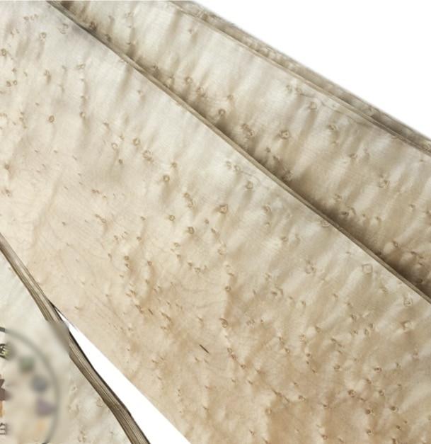 L 2 metros/pieza ancho 120-140mm espesor 0,25mm chapa de arce Natural Ojo de pájaro de madera maciza altavoz desollar