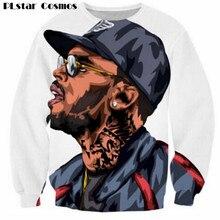 PLstar Cosmos Harajuku sweatshirts 3d Chris Brown character sweatshirt jumper hip hop hoodies pullovers outerwear drop shipping