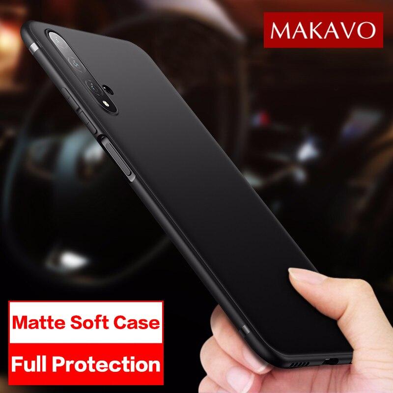 MAKAVO pour Huawei Nova 5T etui mince mat couverture souple etui téléphone Huawei Nova 5T AL-L21 coques de téléphone