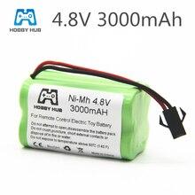 1/2/4pcs NI-MH 4.8V 3000mah rechargeable Battery For RC cars ship Tanks robot 3000 mah batteries for