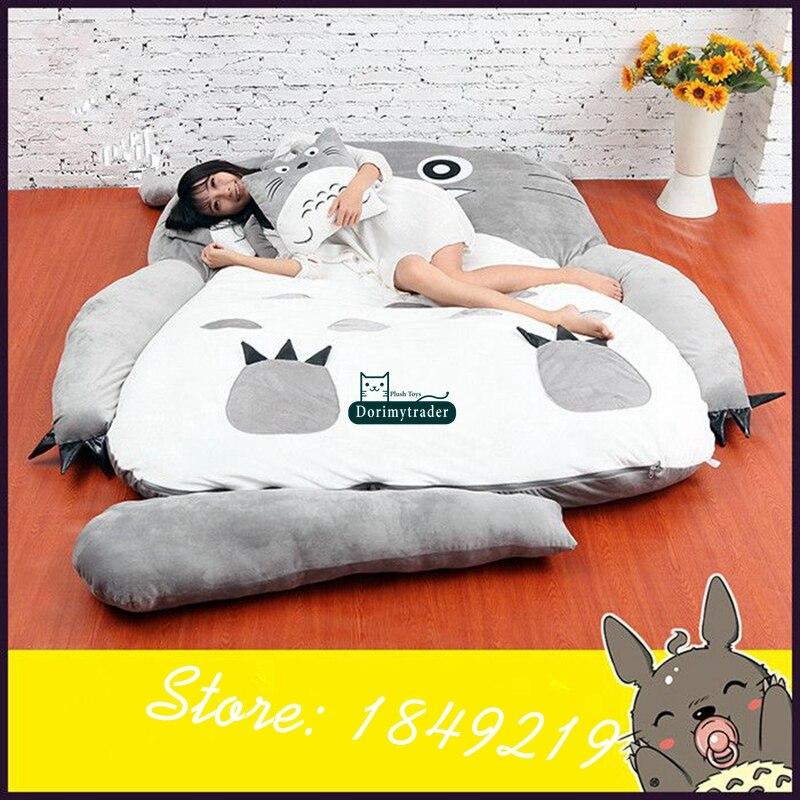 Dorimytrader Hot Fashion Anime Totoro Saco de Dormir Big Plush Suave Colchón Cama Sofá con Algodón Niños DY61067