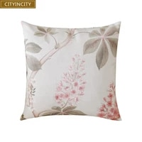 cityincity print cushion cover faux linen pillow case pillow cover home decorative for sofa bed car seat 45x45 50x50 ready made