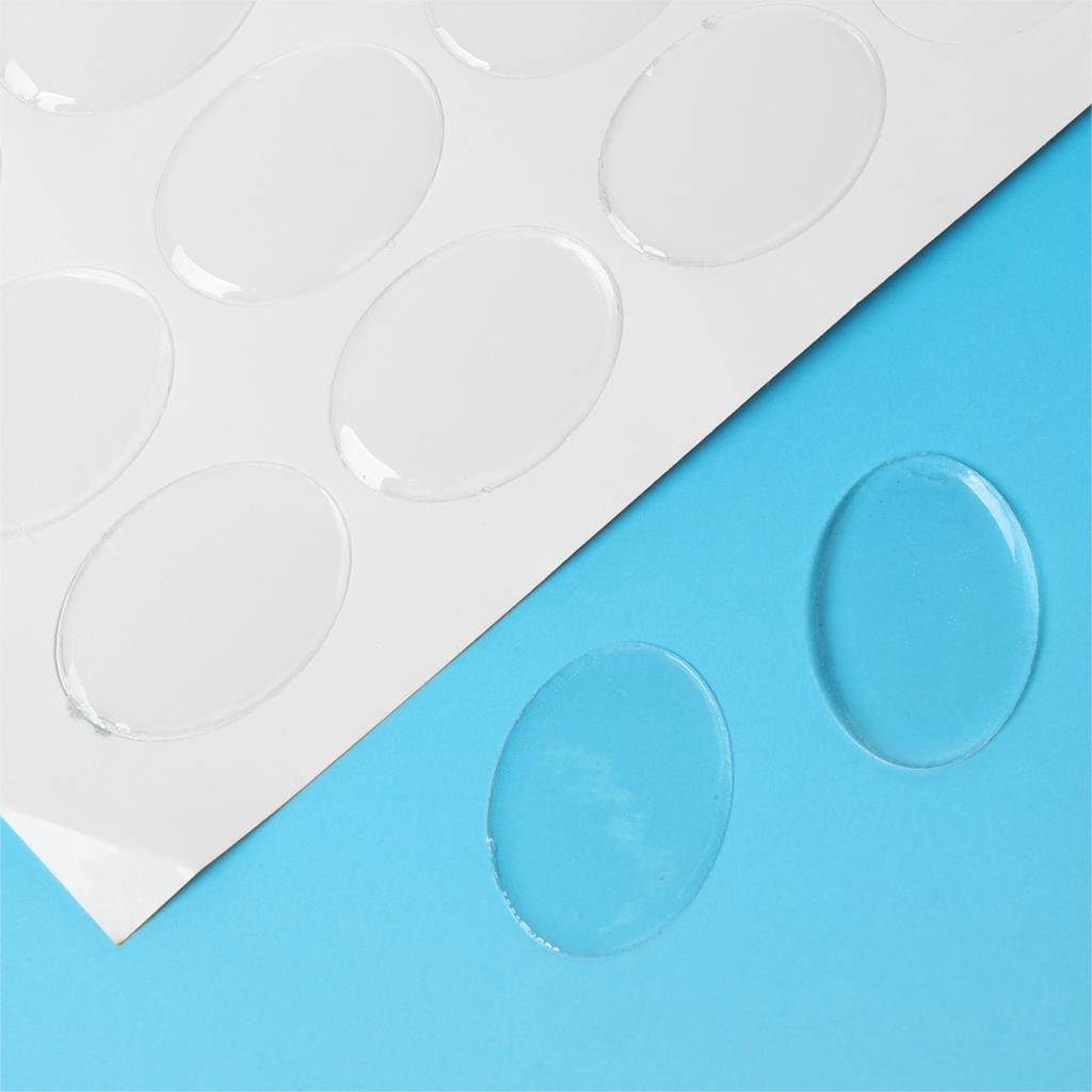 "DoreenBeads claro Oval Epoxy domos resina pegatinas 25,0mm(1 "") x 18,0mm( 6/8""),64 Uds nuevo"