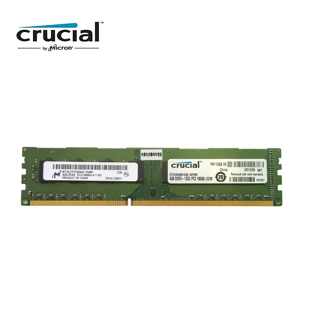 حاسمة DDR3 4G 1333MHZ 1.5V CL9 PC3-10600U 240pin 8G = 2PCSX4G سطح المكتب ذاكرة RAM