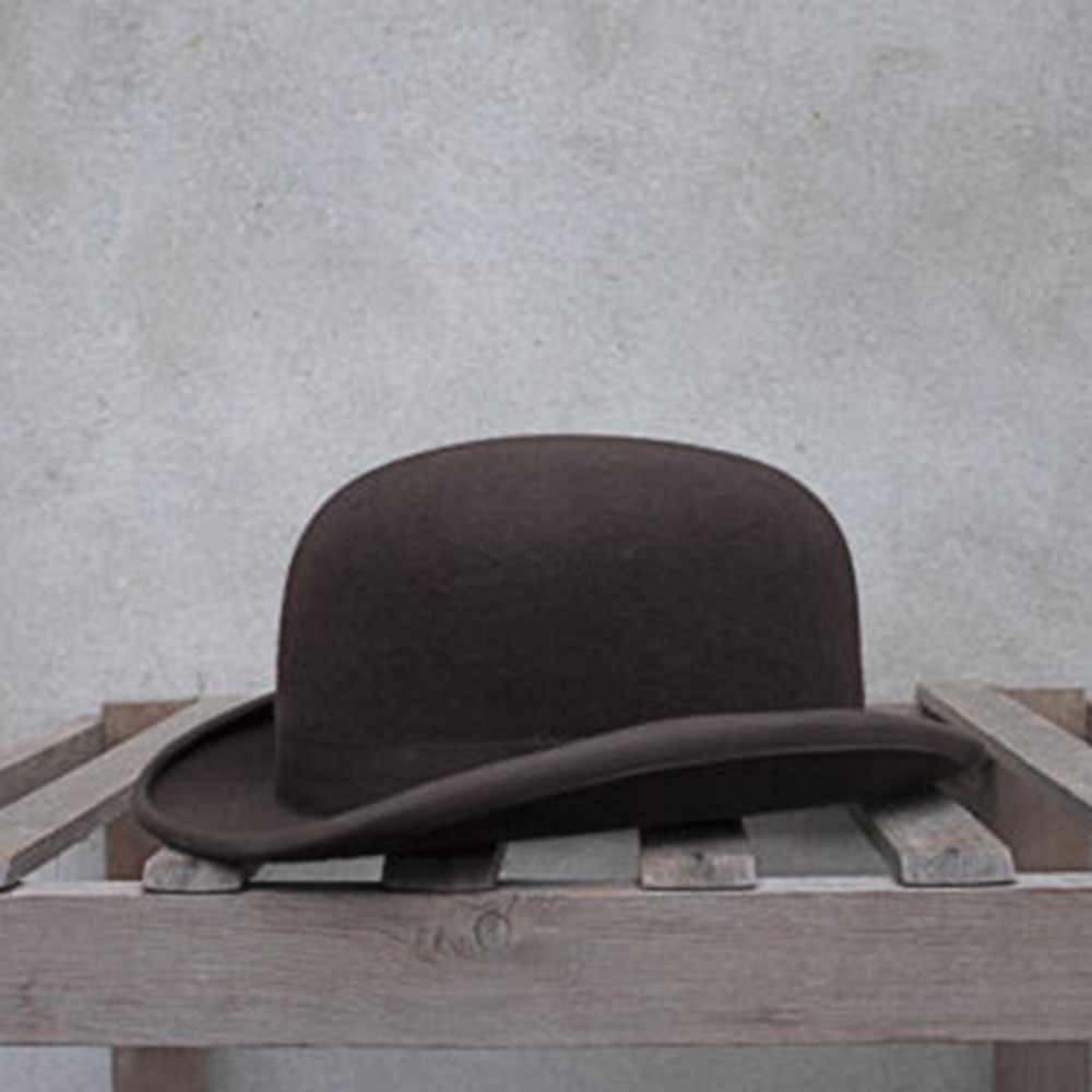 100% Wool Bowler Hat Women men 100% Crushable Traditional Billycock Groom Hats 4 Size S M L XL
